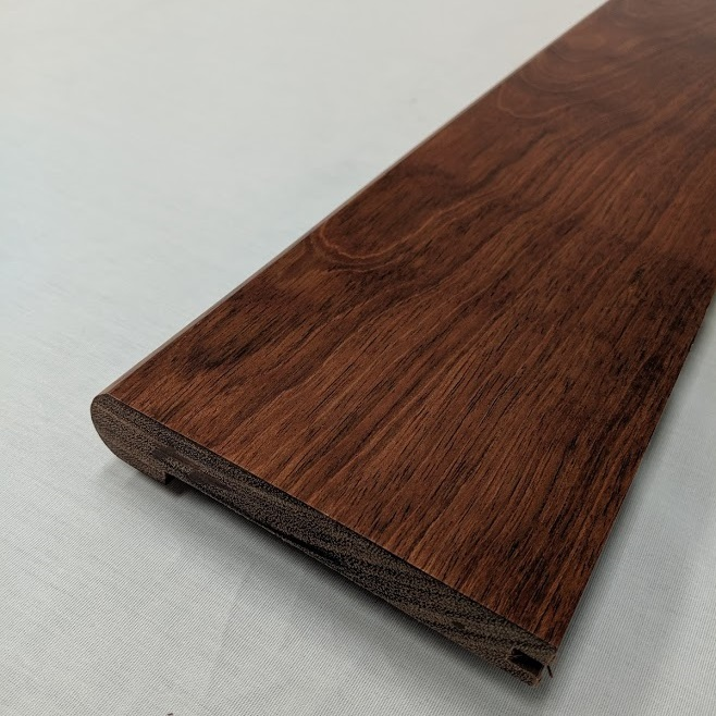 "Brazilian Cherry 5 1/2"" Stair Nose unfinished or Prefinished"