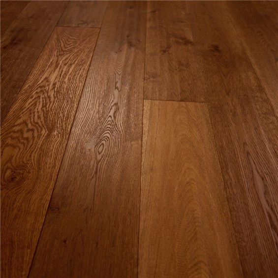"Bare Roots 7 1/2"" Engineered European White Oak with 4mm Wear Layer - Capuchino Handscraped"