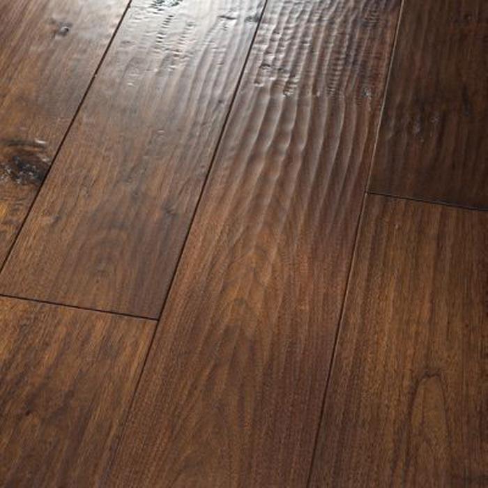 "Walnut Hickory Solid Hardwood Flooring: 5"" Solid Black Walnut Saddle"