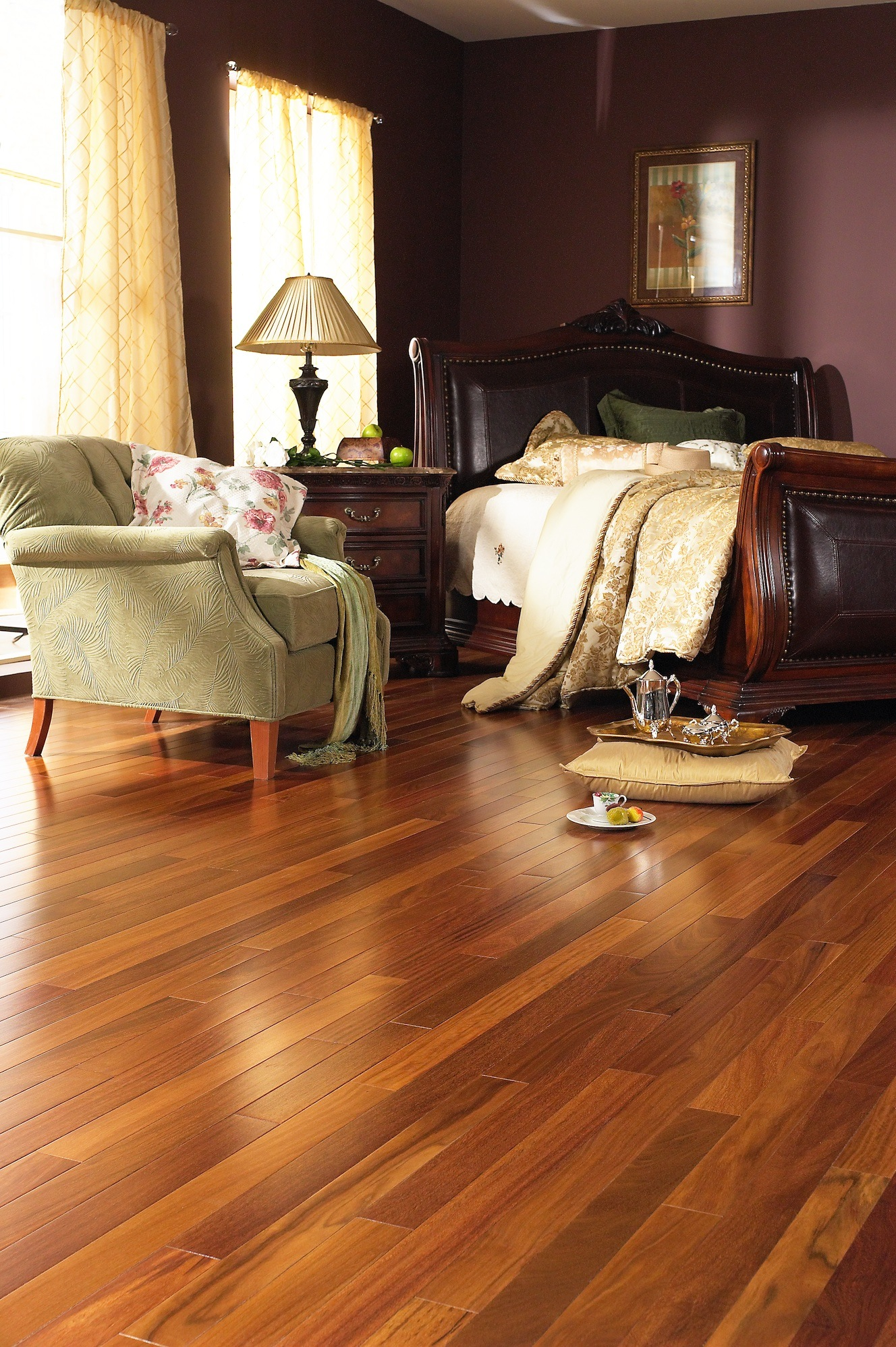 Brazilian Teak Hardwood Cumaru Flooring Prefinished