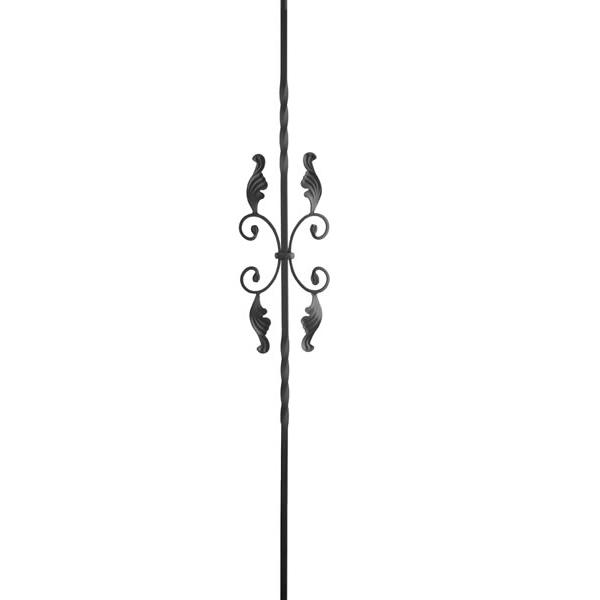 Double Twist w/ Leaves (Butterfly) Iron Baluster - HOLLOW