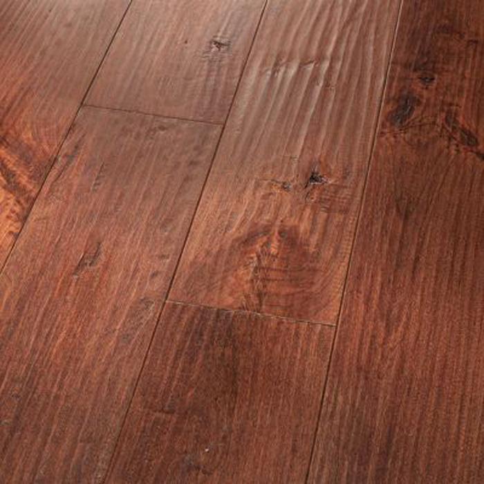 5 Cherry Red Saddle Amish Handscraped Floors