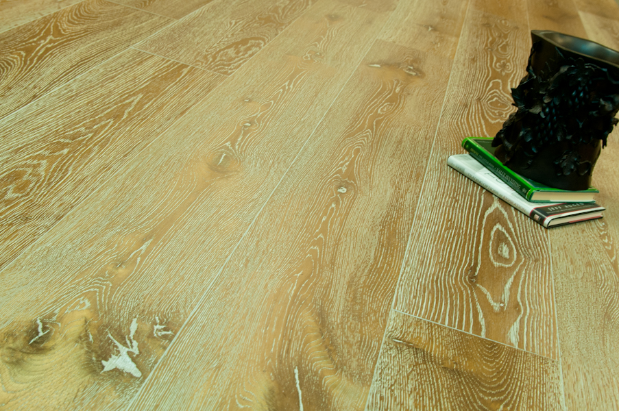 "Bare Roots 7 1/2"" Engineered European White Oak with 4mm Wear Layer - Dirty Blond"