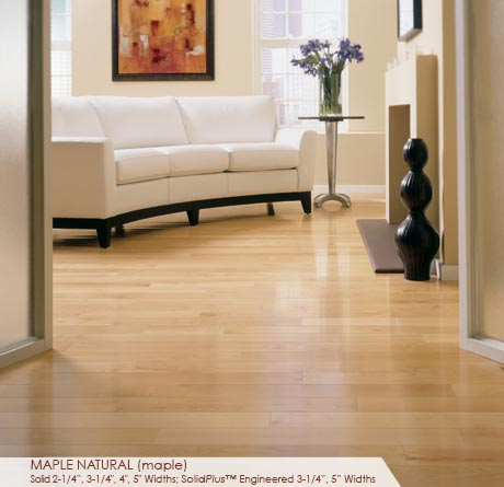 3 1 4 Quot Natural Maple Hardwood Floors Somerset