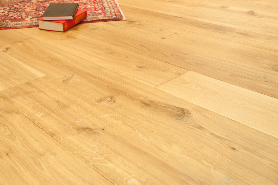 "Bare Roots 7 1/2"" Engineered European White Oak with 4mm Wear Layer - Natural Handscraped"