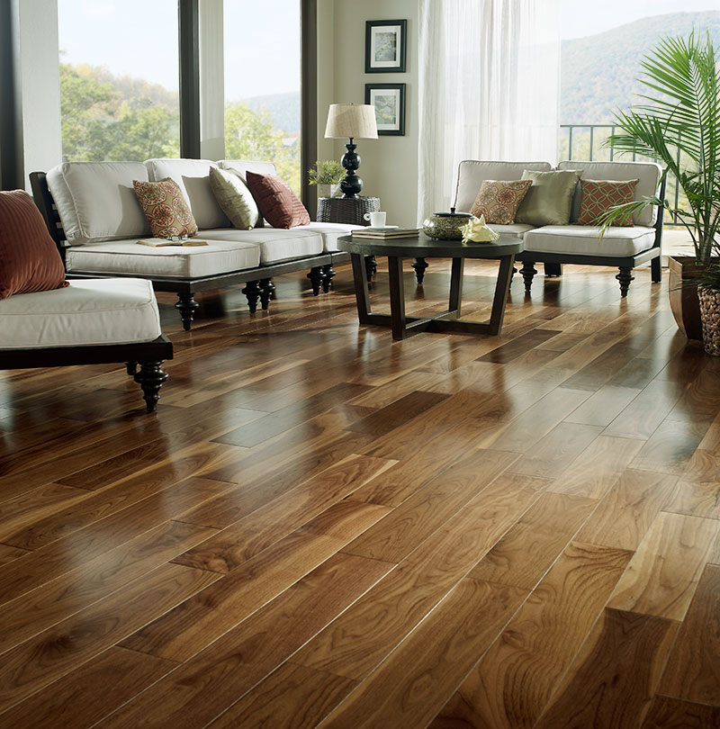 Prefinished Solid Walnut 4 Hardwood Flooring By Bare Roots