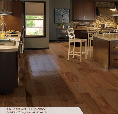Wide Plank Hickory Saddle Flooring Somerset Wide Plank