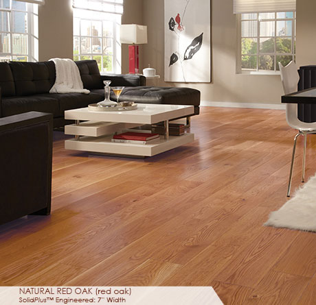 Somerset Wide Plank Engineered Red Oak Natural 7