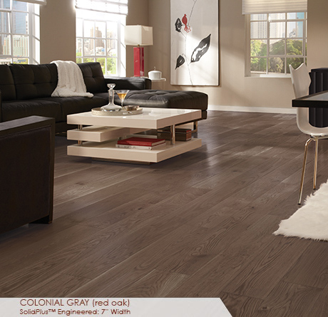 Somerset Wide Plank Engineered Red Oak Colonial Gray 7