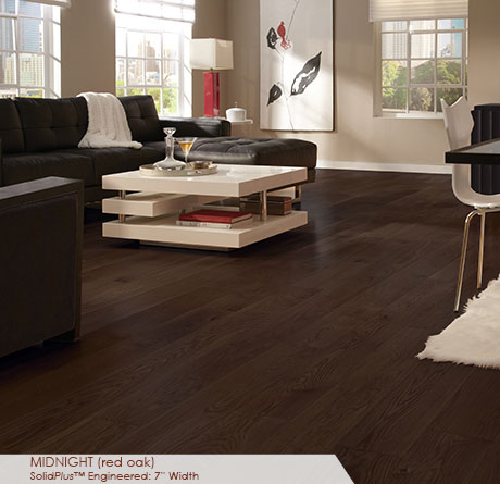Somerset Wide Plank Engineered Red Oak Midnight 7