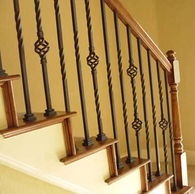 Elegant Twist U0026 Basket Series Iron Balusters