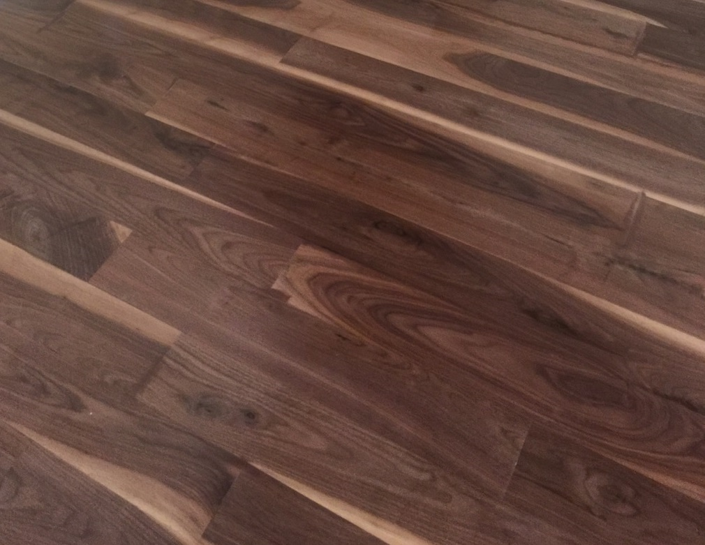 2 1 4 unfinished engineered walnut character grade 1 for Unfinished walnut flooring