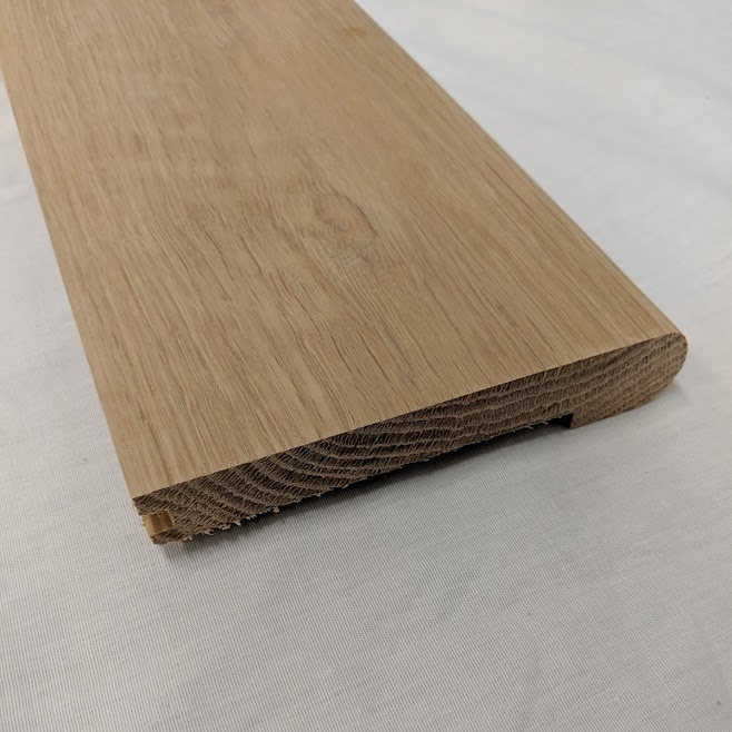 "Unfinished White Oak Stair Nosing - 3/4"" x 3 1/2"""
