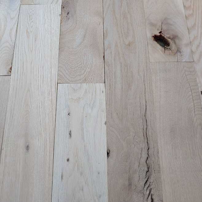 "5"" #3 Common Unfinished Solid White Oak Flooring"